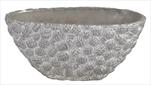 Obal Chico Pinecone Oval Silver 32x16x14,5cm - velkoobchod, dovoz květin, řezané květiny Brno