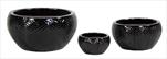 Obal Bowl Fishbone Shiny black S3 D18/40H10/21 - velkoobchod, dovoz květin, řezané květiny Brno