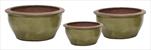 Green Glazed Lily Bowl S3 D30/50H17/24 - velkoobchod, dovoz květin, řezané květiny Brno