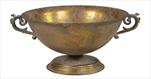Obal Roman Bowl Old Gold D31,5H18 - velkoobchod, dovoz květin, řezané květiny Brno