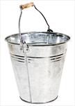 Zinc Natural Bucket Wooden Handle D28H27 - velkoobchod, dovoz květin, řezané květiny Brno