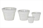 Obal Glazed Basic Pot White S4 D18/4H16/39 - velkoobchod, dovoz květin, řezané květiny Brno