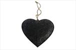 Srdce Adorno závěs 20x20x4cm černé - velkoobchod, dovoz květin, řezané květiny Brno