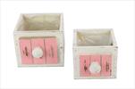 Obal šuplík Cabinet S/2 white/pink - velkoobchod, dovoz květin, řezané květiny Brno