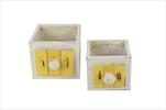 Obal šuplík Cabinet S/2 white/yellow - velkoobchod, dovoz květin, řezané květiny Brno