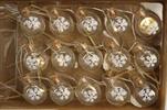 Girlanda baňky s vločkami 15ks/2AA - velkoobchod, dovoz květin, řezané květiny Brno
