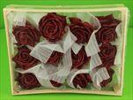 Vosková Růže Bordo 10cm - velkoobchod, dovoz květin, řezané květiny Brno