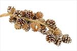 Girlanda Cluster Pine 50cm natural snow - velkoobchod, dovoz květin, řezané květiny Brno
