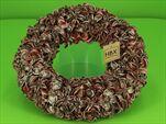 Věnec Cotton Pod Rosegold 38cm - velkoobchod, dovoz květin, řezané květiny Brno