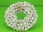Věnec Coco Fruit Bílý/Stříbrný 30cm - velkoobchod, dovoz květin, řezané květiny Brno