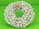 Věnec Coco Fruit Bílý/Stříbrný 38cm - velkoobchod, dovoz květin, řezané květiny Brno