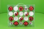 Koule plast 60mm červeno-bílá mix - velkoobchod, dovoz květin, řezané květiny Brno