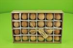 Vajíčko slepičí hnědé 6 cm 24 ks - velkoobchod, dovoz květin, řezané květiny Brno