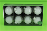 Sklěněné Baňky 57mm 8ks bílé mix - velkoobchod, dovoz květin, řezané květiny Brno