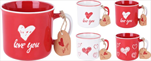 KE Hrnek červený a bílý se srdcem - velkoobchod, dovoz květin, řezané květiny Brno