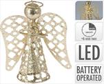 Anděl kov zlatý LED - velkoobchod, dovoz květin, řezané květiny Brno