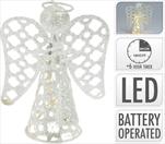 Anděl kov stříbrný LED - velkoobchod, dovoz květin, řezané květiny Brno